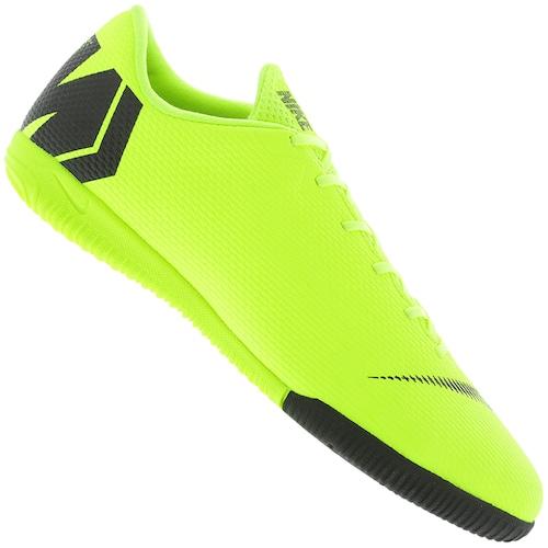 8b784f4ccc Menor preço em Chuteira Futsal Nike Mercurial Vapor X 12 Academy IC -  Adulto - Amarelo Fluor. Outras cores. PRETO