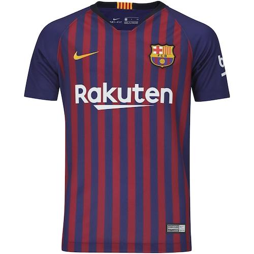 Camisa Barcelona I 18 19 Nike - Infantil ec01eb91087