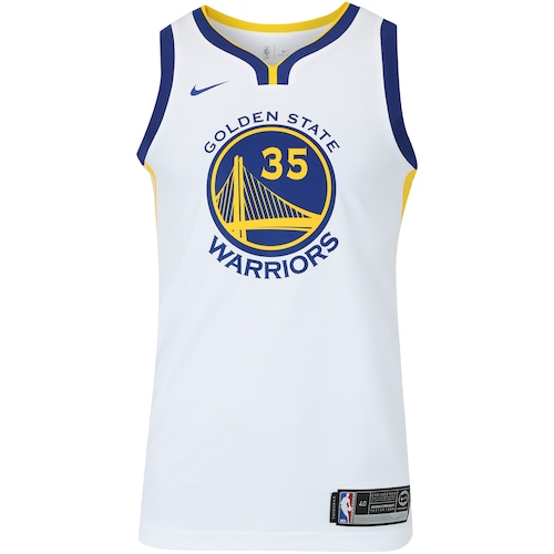 1c8e3506c7 Menor preço em Camisa Regata Nike NBA Golden State Warriors Kevin Durant 35  - Masculina - BRANCO AMARELO