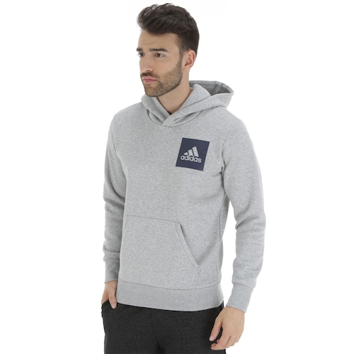 5eda8ab9f Menor preço em Blusão de Moletom com Capuz adidas Essentials Logo PO -  Masculino - CINZA