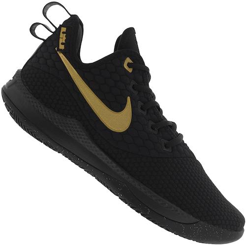 0e7669440888ca Tênis Nike Lebron Witness III - Masculino - PRETO/OURO | Menor preço ...