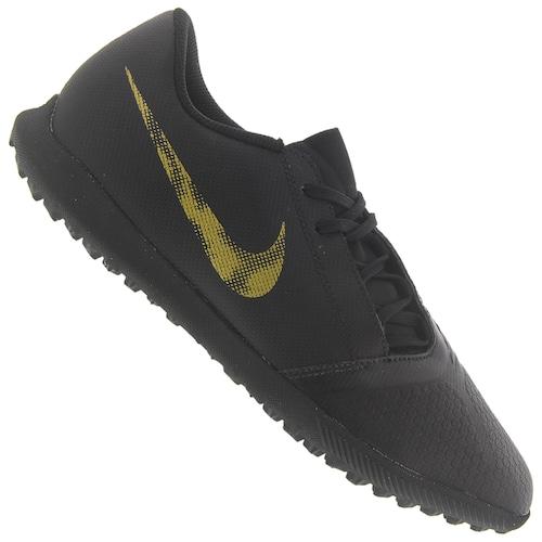 6df45633fad53 Menor preço em Chuteira Society Nike Phantom Venom Club TF - Adulto - PRETO /OURO