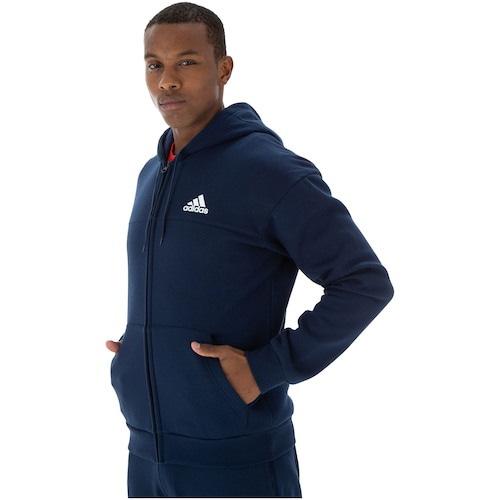 Jaqueta de Moletom com Capuz adidas Sport Full Zip - Masculina