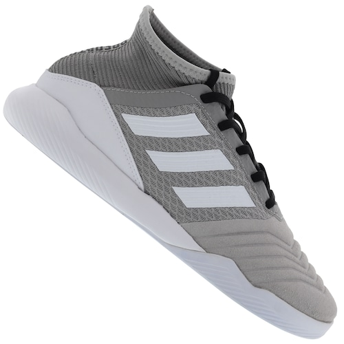 5ffeb54ae Chuteira Futsal adidas Predator 19.3 TR IC - Adulto - CINZA/BRANCO ...