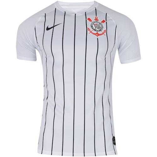 1f3595fcb Menor preço em Camisa do Corinthians I 2019 Nike - Torcedor - BRANCO/PRETO