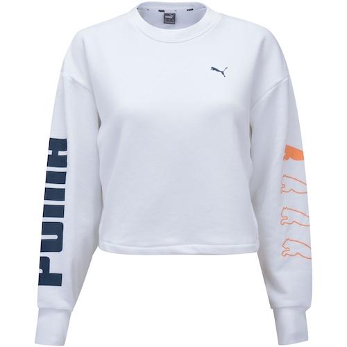 Menor preço em Blusão Puma Rebel Crew Sweat TR - Feminino