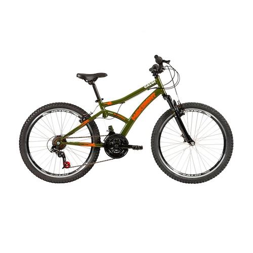 Bicicleta Caloi Max Front Aro 24 Susp. Dianteira 21 Marchas - Verde