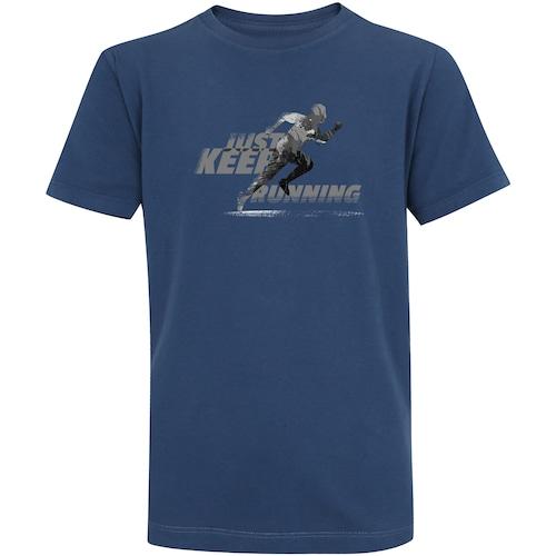 Camiseta Adams Básica Futebol - Infantil - Azul Escuro - Just Keep Running