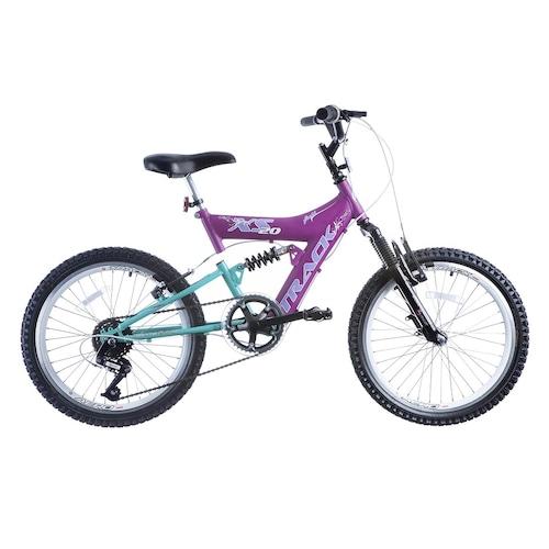 Bicicleta Track Bikes XS 20 - Aro 20 - Freio V-Brake Nylon - 6 Marchas - Infantil