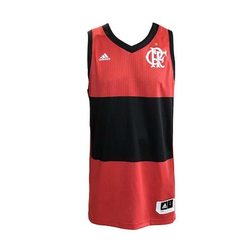 3f66c1e941bee Camiseta Regata do Flamengo adidas de Basquete Jogo 1 2018 - Masculina