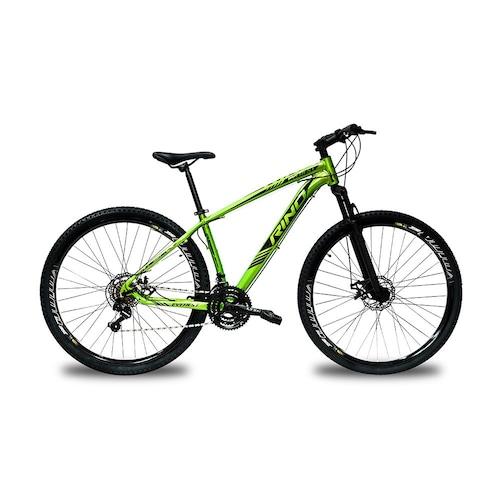 Bicicleta Rino Everest T21 Aro 29 Susp. Dianteira 24 Marchas - Azul/verde