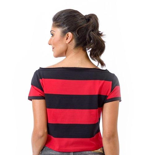 4e4de00931ec5 Camiseta do Flamengo Retrô Baby Look Cropped - Feminina