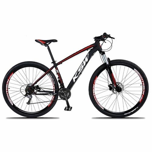 Bicicleta Ksw Xlt M4000 Disc H T21 Aro 29 Susp. Dianteira 27 Marchas - Laranja/preto