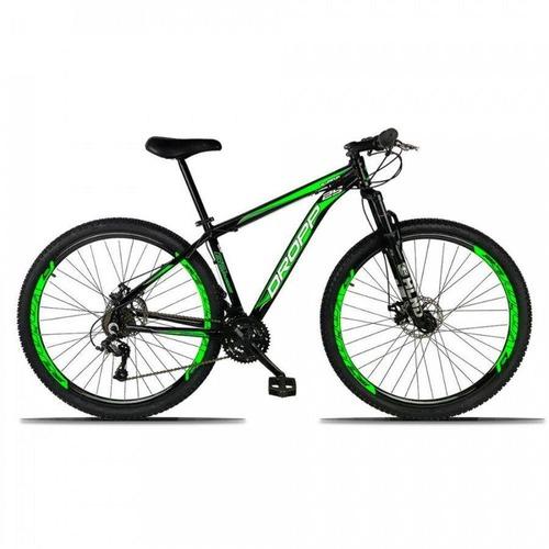 Bicicleta Dropp Aluminium T17 Aro 29 Susp. Dianteira 21 Marchas - Branco/rosa