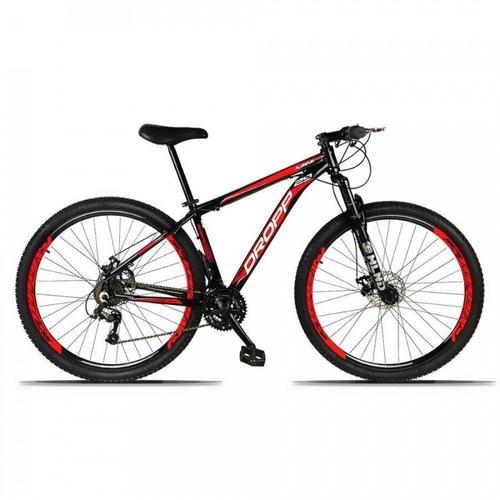 Bicicleta Dropp Aluminum Disc M T15 Aro 29 Susp. Dianteira 21 Marchas - Preto/vermelho