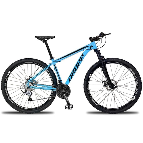 Bicicleta Dropp Aluminum Disc H T21 Aro 29 Susp. Dianteira 27 Marchas - Azul/branco