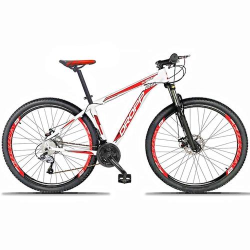 Bicicleta Dropp Aluminum 2020 Disc H T19 Aro 29 Susp. Dianteira 27 Marchas - Branco/vermelho