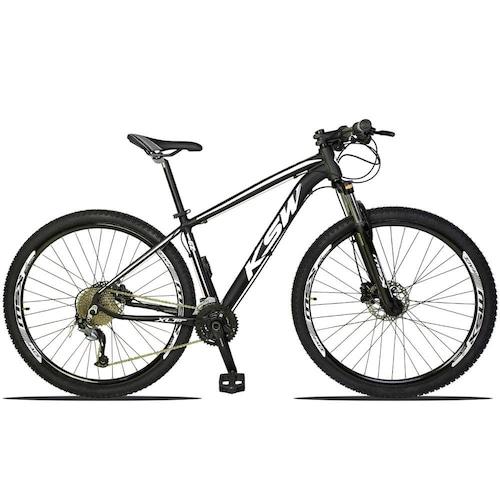 Bicicleta Ksw Xlt 2.0 M3050 Disc H T21 Aro 29 Susp. Dianteira 27 Marchas - Amarelo/azul