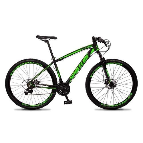 Bicicleta Spaceline Vega Aro 29 Susp. Dianteira 21 Marchas - Preto/verde