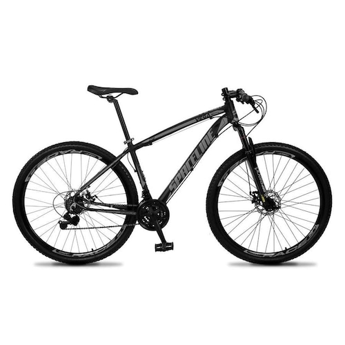Bicicleta Spaceline Vega Aro 29 Susp. Dianteira 21 Marchas - Cinza/preto