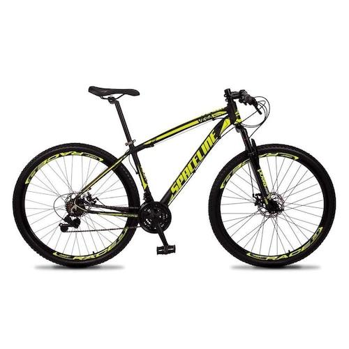 Bicicleta Spaceline Vega Aro 29 Susp. Dianteira 21 Marchas - Amarelo/preto