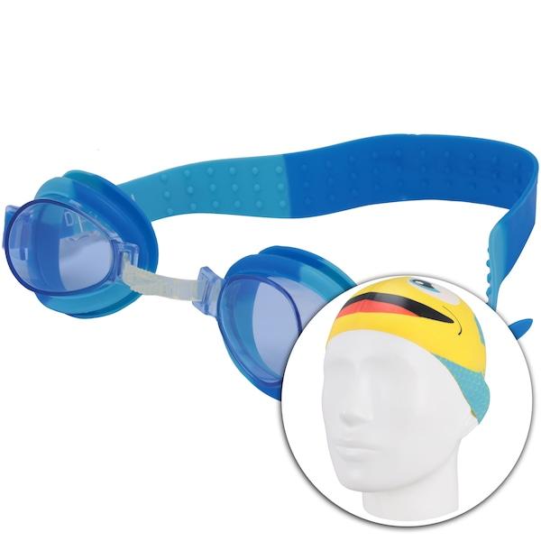Kit de Natação Speedo Fish Combo com Óculos + Touca - Infantil