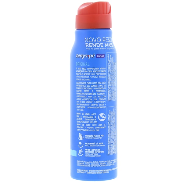 Desodorante para os Pés Tenys Pé Baruel Original - Jato Seco - 150ml