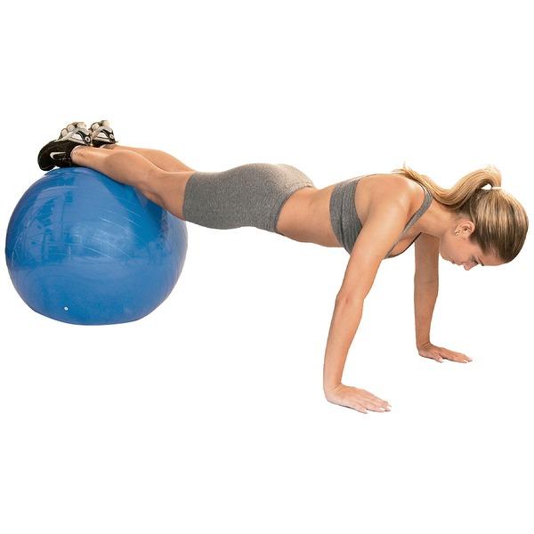 Bola de Pilates Suíça Acte Sports com Bomba de Ar - 65cm