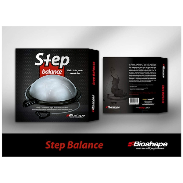 Meia Bola Bosu 56cm com Alças Bioshape Step Balance