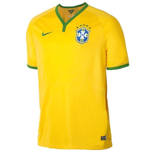 a56d22d937e ... Camisa do Brasil Amarela Nike Torcedor 2014 s n° - Masculina ...