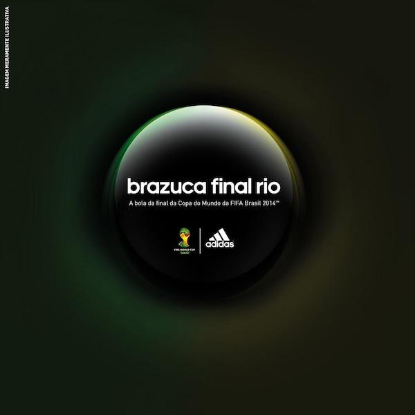 6037c61f4784e Bola Brazuca Oficial Final Rio Copa do Mundo da FIFA 2014