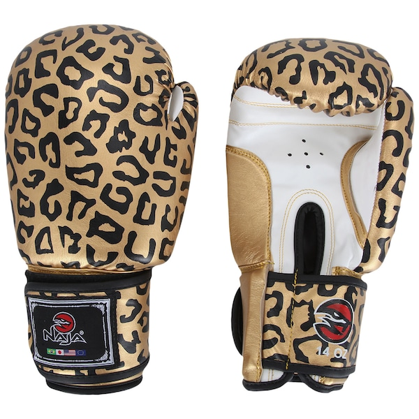 Luvas de Boxe e Muay Thai Naja Onça 14 OZ - Adulto