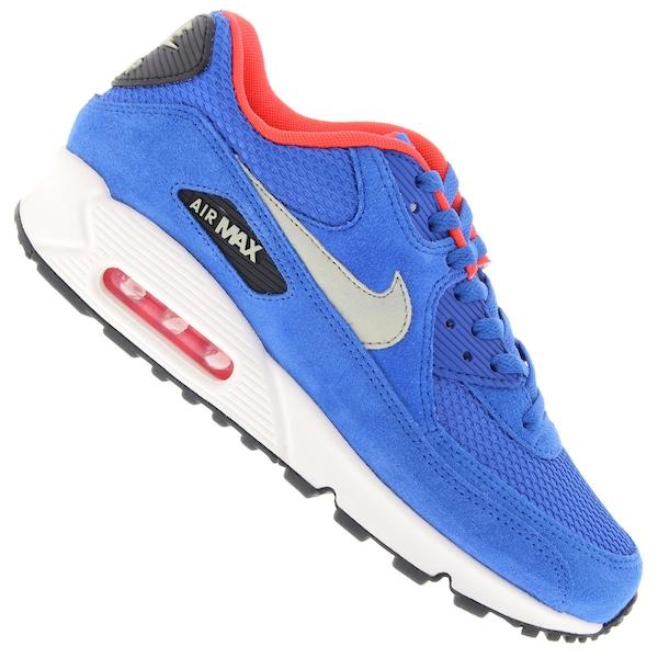 537384 077 Homme Nike Air Max 90 Essential Noi Blanc
