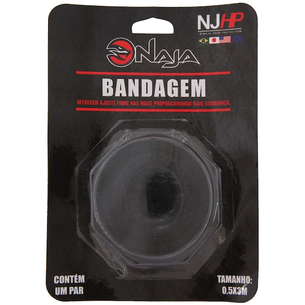 Kit de Boxe Naja Com Luva 10 OZ Bandagem E Protetor Bucal – Adulto