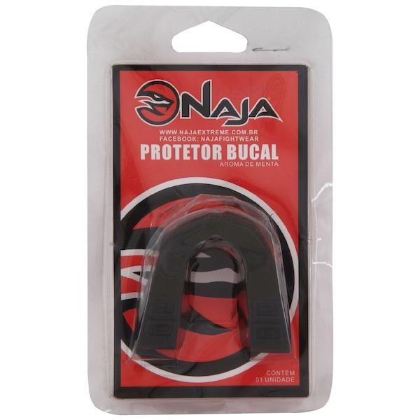 Kit de Boxe Naja Vermelho com Luva 14 OZ Bandagem e Protetor Bucal