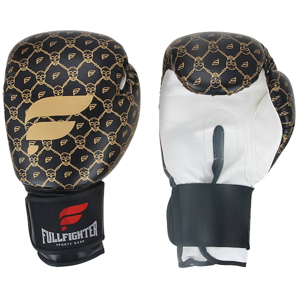 Luvas de Boxe Full Fighter Cardio Caveira Pro 14 OZ