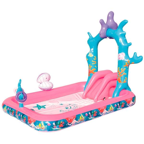 Piscina Inflável com Escorregador Bestway Princesa Ariel Disney 271 Litros - Infantil