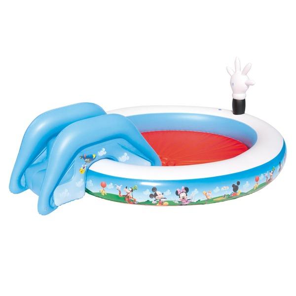 Piscina Inflável Interativa com Escorregador Bestway Mickey Mouse 219 Litros - Infantil