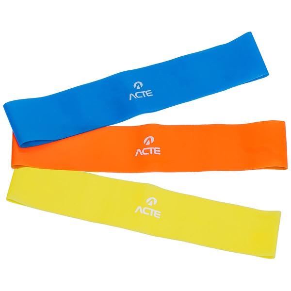 Faixa Elástica Acte Sports T71 Kit Com 3 Unidades