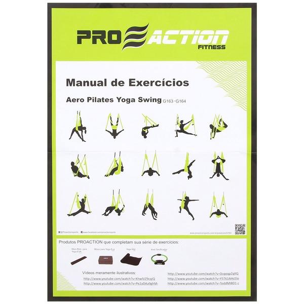 Fita de Suspensão Aero Pilates Yoga Swing ProAction G163