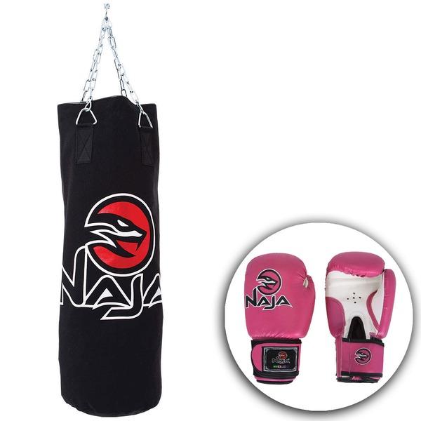 Kit de Boxe Naja Saco de Pancada e Luva 14OZ – Feminino