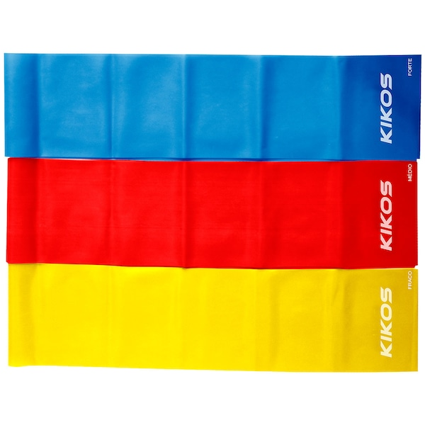 Faixa Elástica Kikos Kit Com 3 Unidades – Tensões Diferentes