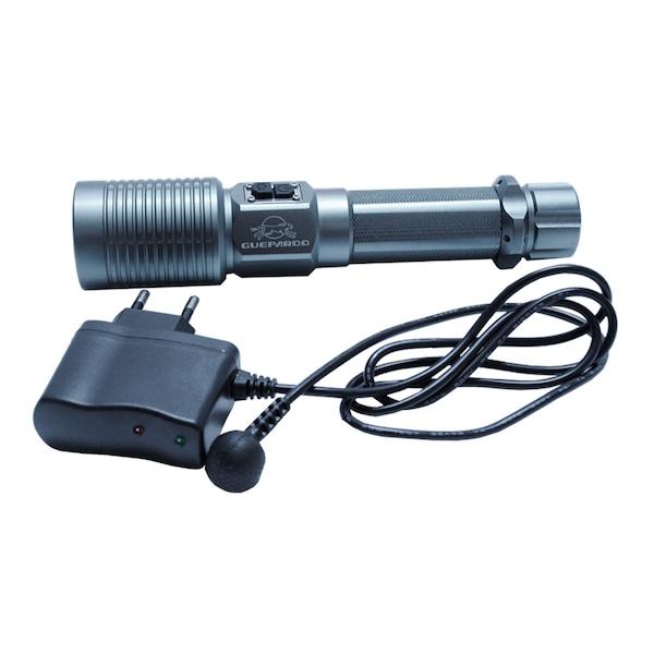 Lanterna Tática com Bateria Recarregável Bivolt Guepardo High Tec 350