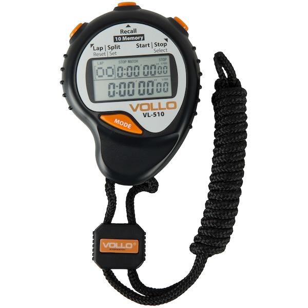 Cronômetro Digital Vollo VL-510 de 10 Memórias com Alça