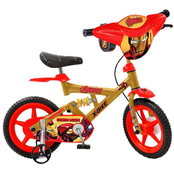 6ed58dff7 Bicicleta Bandeirante Avengers Homem de Ferro - Aro 12 - Infantil