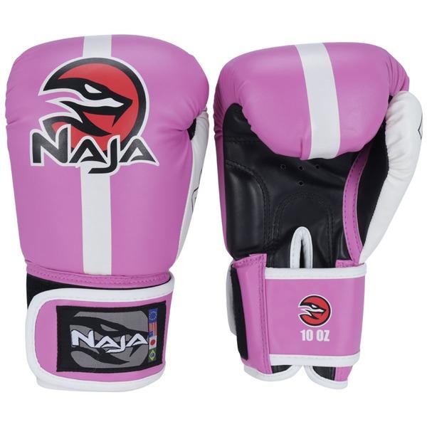 Kit de Boxe Naja Classic com Luva 10 OZ Bandagem e Protetor Bucal - Adulto