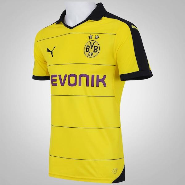 7fb1201c360be Camisa Borussia Dortmund I 15 16 s nº Puma - Masculina