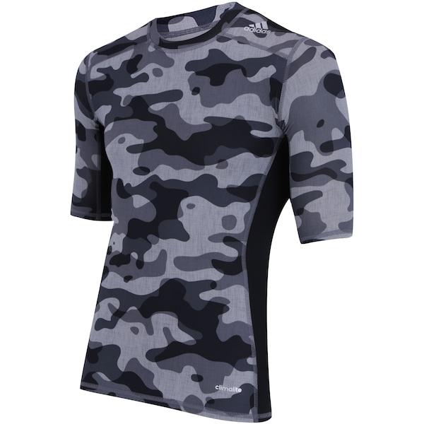 f251ea3053917 ... Camisa de Compressão adidas TechFit Base Camuflada S16 - Masculina ...