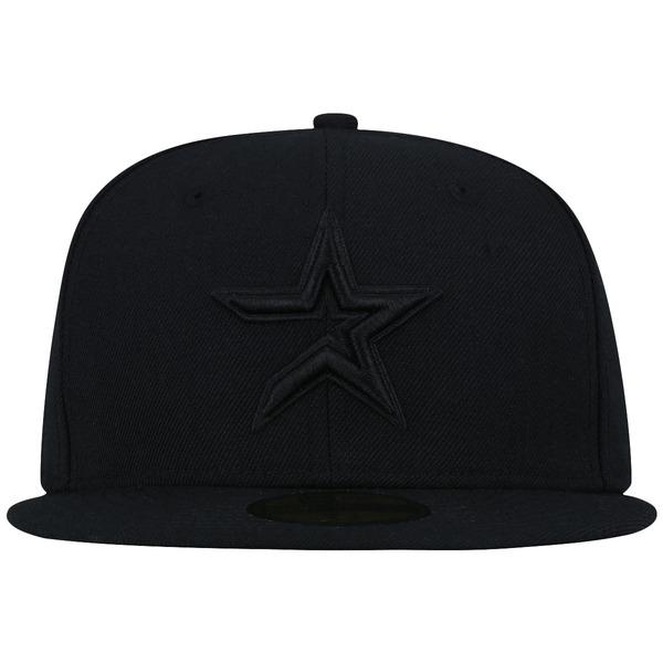 Boné Aba Reta New Era 59FIFTY Houston Astros MLB Black on Black - Fechado - Adulto