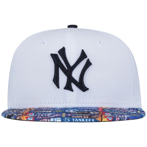Boné Aba Reta New Era 59FIFTY New York Yankees MLB Streamers - Fechado - Adulto